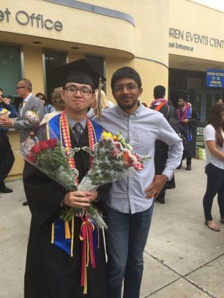 Ming graduates and Arjun is proud, 2016