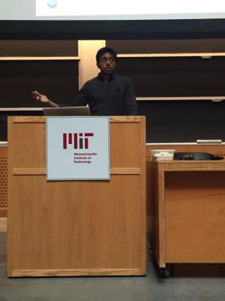 Arjun presents recent work at the SynBERC meeting at MIT, 2015