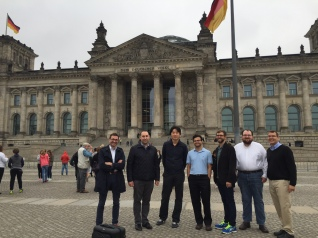 Chang with fellow speakers at XB2, sightseeing in Berlin, 2016