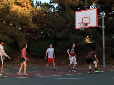 Working off calories after Lab BBQ, 2015