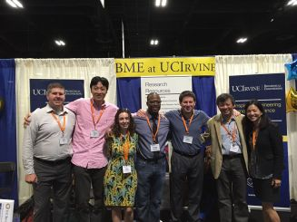 Chang with other UCI faculty at 2015 BMES meeting