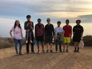 Members of the group on top of Morrow Ridge, 2018