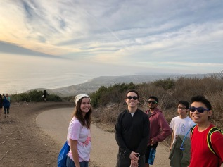 Tate, Joey, Arjun, Guohao, and Xiang enjoying ocean views, 2018