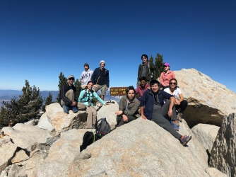 Liu Lab members at the peak of Mt. San Jacinto, 2018