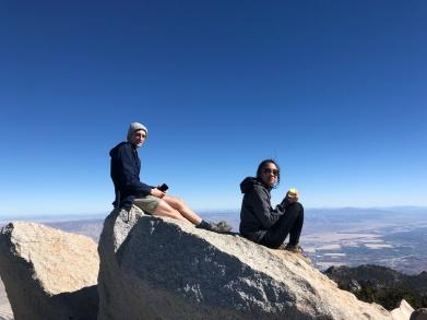 Gordon and Kianna atop Mt. San Jacinto, 2018