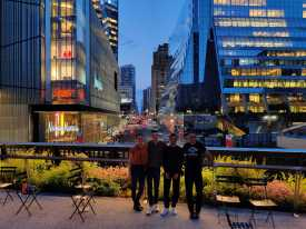 Courtney, Gordon, Alex, and Alon in NYC, 2019